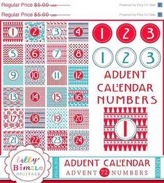 50 off Advent Calendar Clipart DIY digital by LillyBimble on Etsy