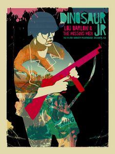 Dinosaur Jr. Concert Poster By Methane Studios