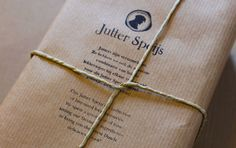 Jutter Speijs Packing with ink stamp and string