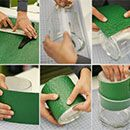 How to make lined vases