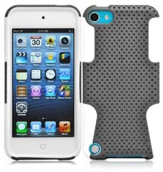 Ionic CLASSIC Case for The New iPod Touch New Apple iPod Touch 5 5th Generation 5G 2012 New Model (Gray-White),$7.85