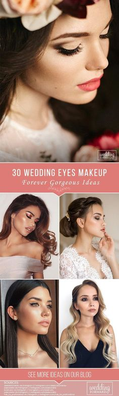 30 Forever Gorgeous Wedding Eyes Makeup Ideas ❤ Expressive wedding eyes makeup will help emphasize the femininity and grace of the bride. We have collected trend ideas of different styles to inspire you. See more: http://www.weddingforward.com/wedding-eyes-makeup/ #wedding #bride #weddingeyesmakeup