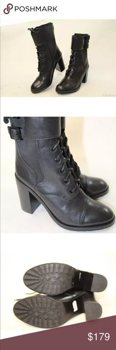 Selling this Tory Burch NWT black leather moto healed boots on Poshmark! My username is: scluff. #shopmycloset #poshmark #fashion #shopping #style #forsale #Tory Burch #Shoes