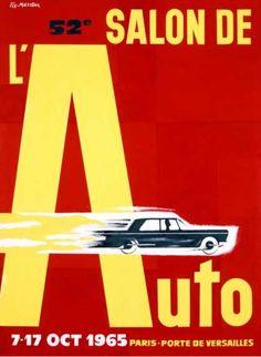 Vintage poster 1965 Paris motor show