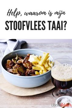 No more tough stew! Slow Cooker Recipes, Beef Recipes, Healthy Recipes, Cauliflower Soup, Goulash, Stew, Dinner Recipes, Food And Drink, Yummy Food