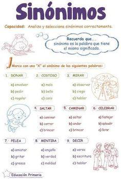 Verbal Reasoning: Synonyms for child Bilingual Classroom, Bilingual Education, Classroom Language, Spanish Classroom, Primary Education, Spanish Grammar, Ap Spanish, Spanish Language Learning, Spanish Teacher