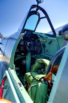 Supermarine Spitfire WWII Cockpit by BnGphotos, via Flickr