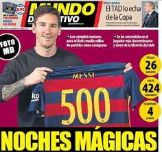 Lionel Messi is expected to make his 500th appearance for Barcelona on Wednesday against Real Betis