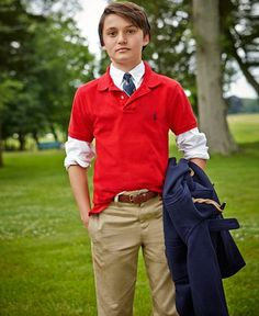 Ralph Lauren Polo, Oxford Shirt & Suffield Pants, Big Boys - Sets & Outfits - Kids & Baby - Macy's