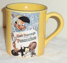 Large Disney's Pinocchio Ceramic Coffee Mug from Disney Store
