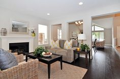 Living Room - home staging from HGTV Flip or Flop