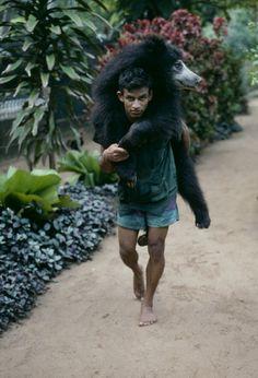 steve mccurry(1950- ), srilanka. 1995. A man carries a bear. http://www.magnumphotos.com/C.aspx?VP3=SearchDetail&VBID=24PVHK9OAJUXT&PN=3627&IID=2K7O3R5C9WVZ