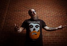 Branding and design genius Brian Manley, of Fun with Robots, goes Where Eagles Dare in the Gunshow Bearded Fiend tee.
