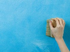 Photo Gallery: Paint Effects: By pressing the very ends of a specially designed stippling brush into the wet glaze, you can create a very finely textured, almost velvet-like finish. Pat the brush into the wall surface in a random pattern and make sure that you go straight up and down with no drag From DIYnetwork.com