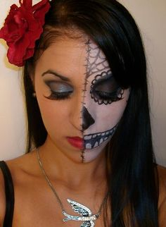 sugar skull makeup red and dark gold | Recent Photos The Commons Getty Collection Galleries World Map App ...