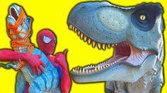 SPIDERMAN vs T-Rex BABY Kidnapped - JOKER vs T-REX - Fun Superhero Movie...