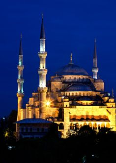 Blue Mosque Blue Hour (Sultanahmet Camii), 1609-1616, Istanbul, Turkey. | Flickr - Photo Sharing!
