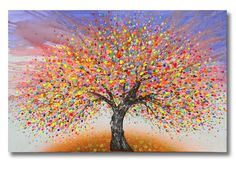 """Julia Sadeh """"Tree of Life"""" A huge 60x40inch canvas. See more pictures on my website"""