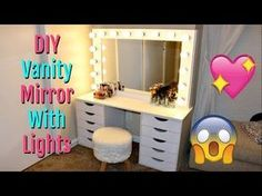 DIY Hollywood-Style Vanity: Mini Tour & What I Used to Build it - YouTube