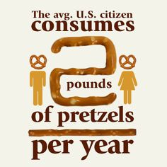Are you above average? How many pounds of pretzels do you think you eat every year?