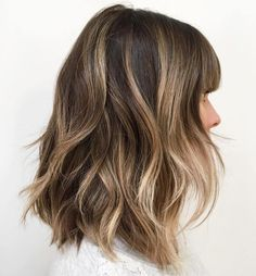 Shoulder Length Layered Hair With Bangs