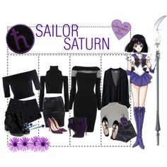 Sailor Saturn by clumsycinderella2992 on Polyvore featuring moda, GUESS by Marciano, Donna Karan, River Island, Topshop, American Apparel, C Label, Chloé, Rupert Sanderson and Panacea