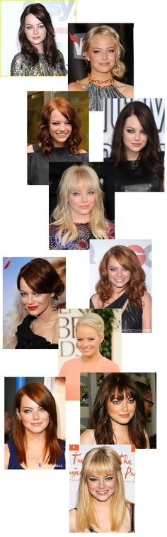Emma Stone...LOVE her hair changes!