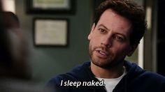 "Forever #tvshow - Henry -  ""I sleep naked"" *wink wink*"