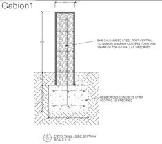 Example of a tall gabion wall with galv support posts for stability http://www.gabion1.com
