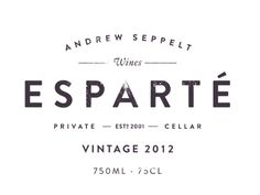 Esparte wine label