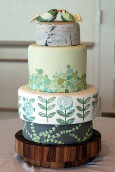 Anthropologie/nature inspired cake