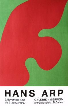 """Original color lithography, printed in 1966 on the occasion of the solo exhibition of Hans Arp at historic gallery """"Im Erker"""" in St. Jean Arp, Venus Von Milo, Shadow Art, Pottery Sculpture, Print Layout, Art For Art Sake, Cool Posters, Canvas Art Prints, Book Design"""