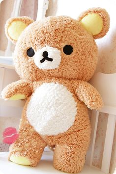 ❤ Blippo.com Kawaii Shop ❤ Rilakkuma fuzzy stuffed bear