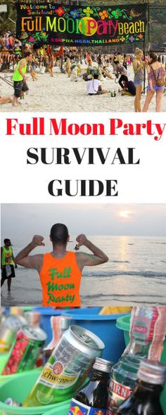 Koh Phangan Full Moon Party Survival Tips - Journalist On The Run Thailand Adventure, Thailand Travel, Bangkok Trip, New Travel, Asia Travel, Travel Tips, Ultimate Travel, Full Moon Party Thailand, Khao Lak