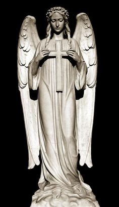 Le plus récent Images angel Sculpture Style Cemetery Monuments, Cemetery Statues, Cemetery Art, Statue Tattoo, Angels Among Us, Angels And Demons, Statue Ange, Cemetery Angels, Religious Tattoos