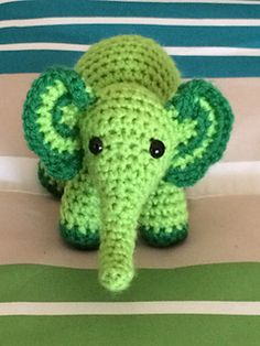 Meimei is a tiny little crochet elephant.