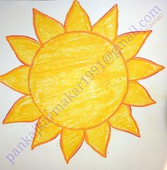 Very easy sun painting with oil pastel for kids by Pankaj karmakar Oil Painting App, Abstract Tree Painting, Sun Painting, Art Drawings For Kids, Drawing For Kids, Easy Drawings, Easy Painting For Kids, Simple Oil Painting, Sun Drawing