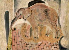 David Jones British), Elephant, National Museum of Wales, Cardiff © Trustees of the David Jones Estate/Amgueddfa Cymru – National Museum Wales David Jones Artist, National Museum Of Wales, Glasgow School Of Art, Royal College Of Art, Elephant Art, Art Uk, Art Google, Art History, Art Museum