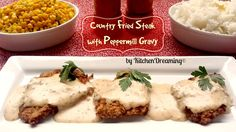 Country Fried Steak a traditional breakfast dish made with tender cube steak and…