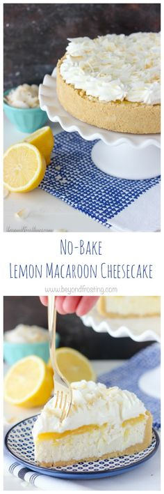 This No-Bake Lemon Macaroon Cheesecake is layered of golden Oreos, coconut cheesecake, lemon curd and whipped cream. The combination of the coconut and lemon is undeniable! All of this is done without turning on the oven! Recipe from the No-Bake Treats Cookbook. It's here it's here it's here!! Yesterday was the OFFICIAL release date for …