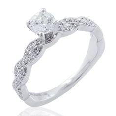 Malakan Jewelry - White Gold Diamond Engagement Ring 63158AA