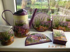 Decoupage set lavender pattern