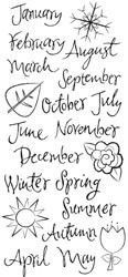 Karen Foster Clear Stickers - Months of The Year