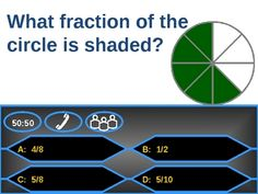AWESOME Fractions Game: Powerpoint