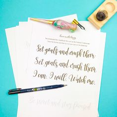 Motivational Free Calligraphy Practice Sheets