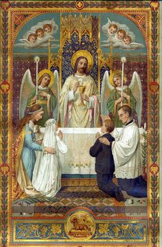 Angel Holy Communion card