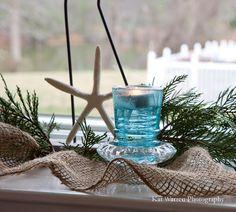 Sally Lee by the Sea Coastal Lifestyle Blog: {Coastal Christmas - Day 22} Mantels, Tables & More!