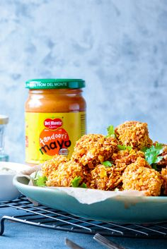 Crisp Baked Tandoori Mayo Cheddar Chicken Recipe - Cubes N Juliennes Indian Chicken Dishes, Indian Chicken Recipes, Indian Food Recipes, Ethnic Recipes, Chicken Bites, Chicken Eggs, Recipe Master, Gluten Free Breakfasts, Cereal Recipes