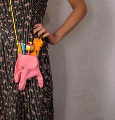 Super Cute DIY Upcycled Dish Glove Elephant Bag by Misako Mimoko