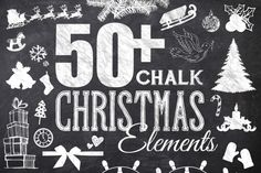 Add some holiday cheer to you next project with these high quality chalk elements! Easy to edit and scale to any size! Illustrator and Photoshop files included!